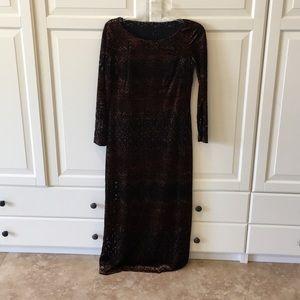 Dresses & Skirts - Velvet dress with black slip dress